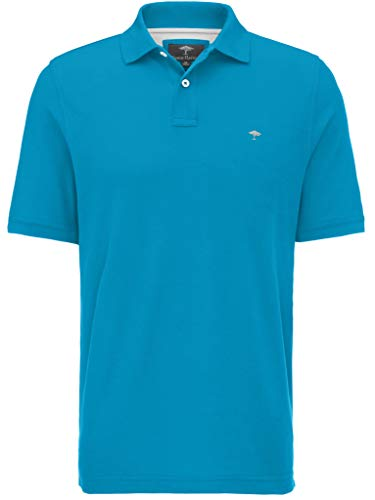 FYNCH-HATTON Basic Poloshirt aus Piqué aus Reiner Baumwolle, crystalblue 620, 4XL