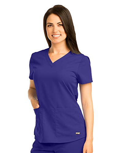 Grey's Anatomy 71166 V-Neck Top Purple Rain S