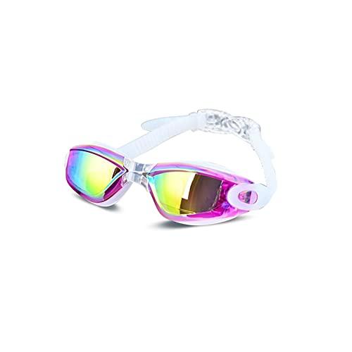Anti-Ultravioleta Anti-Niebla Traje de baño Gafas natación Buceo Regulable natación Gafas de natación Gafas de natación Earplugs (Color : Purple)