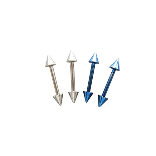 JEAN'S FRIEND 12G SS 316L Steel Colbalt Blue Straight Barbell Cones Body Piercing Jewelry 4 Pack