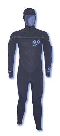 Hotline Wetsuits Men's UHC 5/4mm Full Suit Hooded Black
