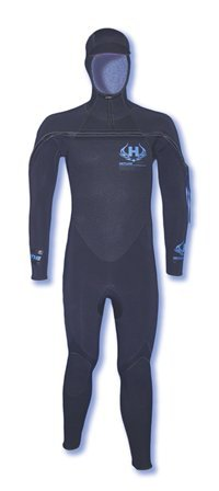 Hotline Wetsuits Men's UHC 5/4mm Full Suit Hooded Black