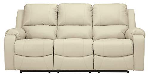 Signature Design by Ashley Rackingburg Reclining Power Sofa Vanilla
