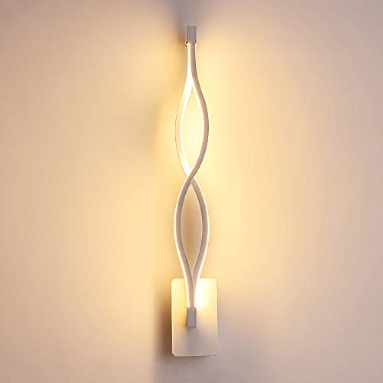 Liuqing Nordic Fashion Aluminium Kunst Wandleuchte Persnlichkeit LED Dekorative Wandleuchte Spirale Kreative Acryl Wandleuchte Warmes Licht (Farbe   Weiß)