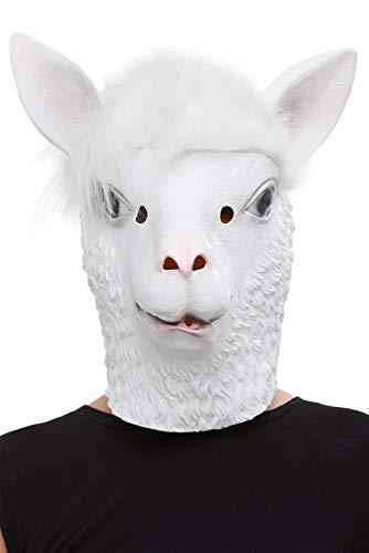 Smiffys 50879 Llama Latex Mask, Men, Wh