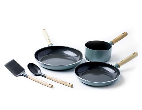 GreenPan - Juego de utensilios de cocina de cerámica antiadherente, sin toxinas,...