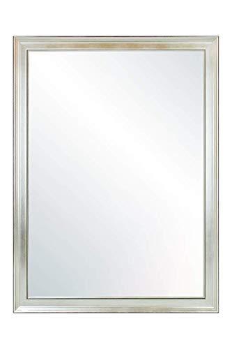 Chely Intermarket, espejo de pared cuerpo entero Medidas 40X60 cm (47,50x67,50cm) Plateado/Mod-155, ideal para peluquerías, salón, Comedor, Dormitorio y oficinas. Fabricado en España. Material madera.