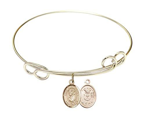 7 ½ inch Round Double Loop Bracelet