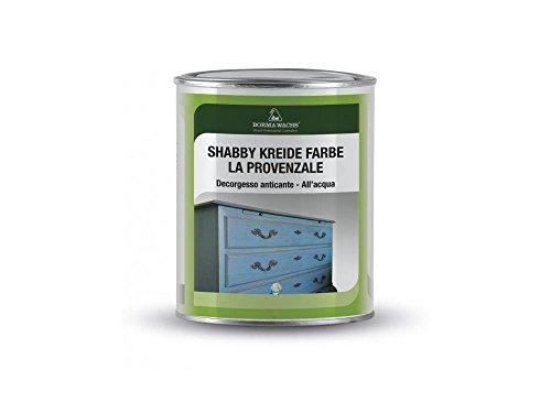 Shabby Chic Möbel Kreidefarbe matt Lack Landhaus Stil Vintage Look 375ml (Weiss - 50)