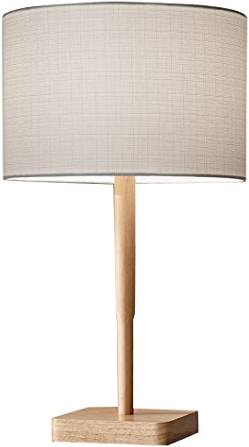 Adesso 4092-12 Ellis 21  Table Lamp, Natural, Smart Outlet Compatible