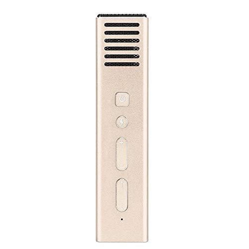 Telefon mikrofon aluminiowy przenośny wzmacniacz głosu mini zmieniacz głosu dla dźwięku (złoty)