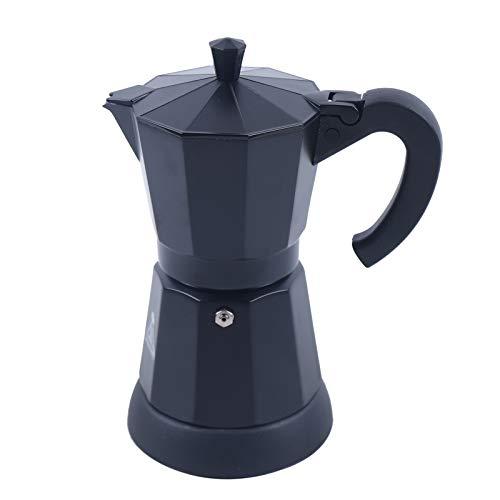 Elektrischer Espressokocher, Mokkakanne, Espressokanne, Aluminium, Schwarz, für 6 Tassen, 300 ml