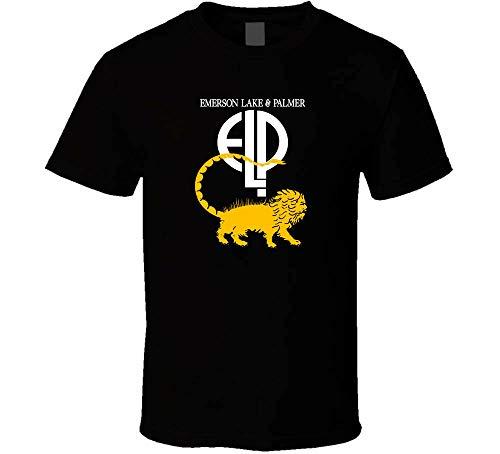 Elp Emerson Lake & Palmer Shirt T Shirt Graphic Top tee Camiseta Short-Sleeve Men T-Shirt Black XL