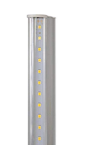 Vetrineinrete Sottopensile led smd trasparente plafoniera neon tubo 30 50 60 90 120 cm luce calda 3000k reglette per soffitto mensole ripiani (30 cm 5 watt) D17