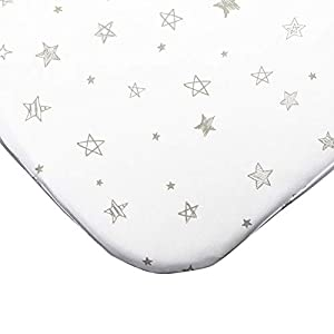 crib bedding and baby bedding mika micky waterproof fitted sheet for bedside crib (star)