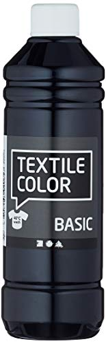 Art-Manufacture-Design - Colorante per tessuti Textile Color, capacità 500 ml, colore nero
