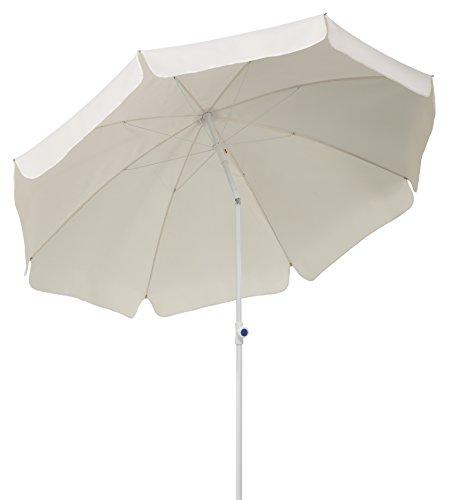 Schneider Sonnenschirm Ibiza, natur, 240 cm rund, Gestell Stahl, Bespannung Polyester, 2.8 kg