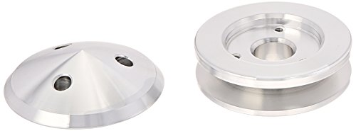 March Performance 137 Performance Series Clear Powdercoat Aluminum 1-Groove Alternator Pulley