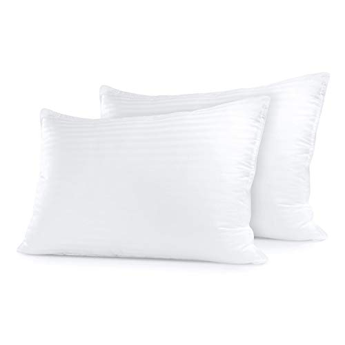 Sleep Restoration Gel Pillow (2 Pack Queen) Hotel Quality Comfortable & Plush Cooling Gel Fiber...