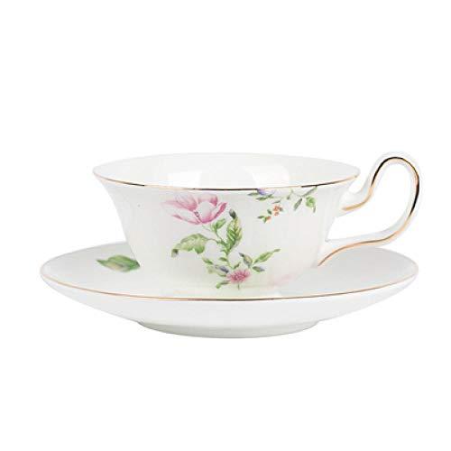 Teller Keramik Kaffeetasse Untertasse Englisch Nachmittagstee Tasse Europäische Kleine Luxusblume Pflanze Knochen China Kaffee Set Kaffeetasse