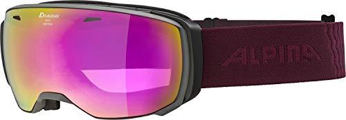 ALPINA ESTETICA Skibrille, Unisex– Erwachsene, grey-cassis, one size