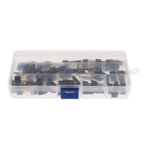 ShiSyan 110pcs 2,54 mm, 2,54 mm PCB 110pcs del Soporte de Clavijas Macho y Hembra for PI del Tablero de Pan