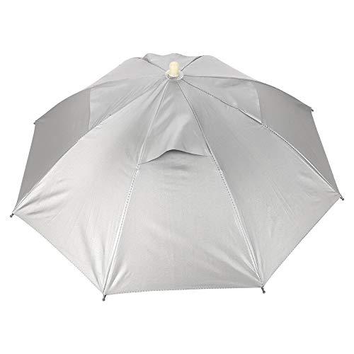 KSTE Kopfbedeckung-Regenschirm - handfreie Regenschirm-Kappe im Freien, wasserdichter UVschutz-Leichter Fischen-Hut, Sonnenschutz-Kappe for das Fischen-Gartenarbeit-Fotografie-Gehen
