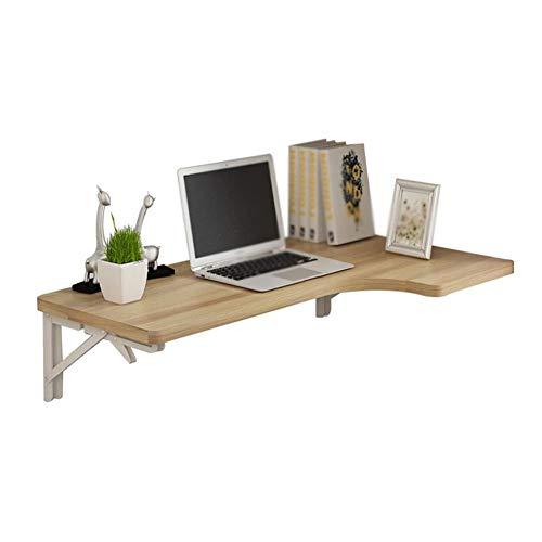 LNDDP Klappbarer Mehrzweck-Wandtisch mit Klapptisch Eck-Computertisch L-förmiger Tisch für kleine Räume Farbe: Hellnuss, 100 x 60 x 40 cm