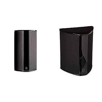"Definitive Technology SR-9080 15"" Bipolar Surround Speaker | Premium Sound Quality | Wall or Table Placement Options | Single Black & SR-9040 10"" Bipolar Surround Speaker | Single Black"