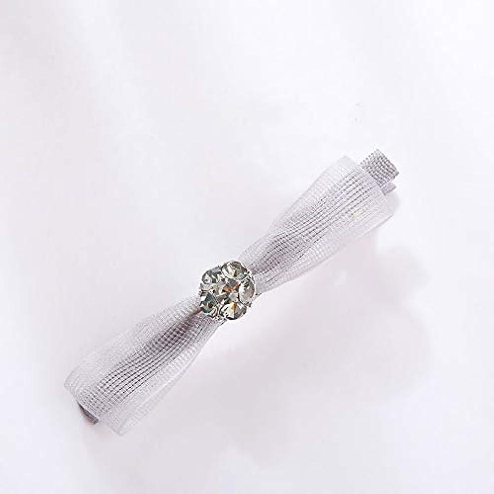 デモンストレーション和らげる貢献するHuaQingPiJu-JP ファッションロゼットヘアピン便利なヘアクリップ女性の結婚式のアクセサリー(グレー)