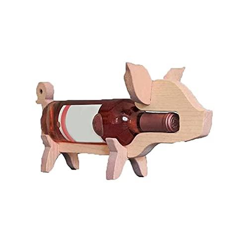 ACTIVATIONCW Estante De Vino De Decoración Creativa, Soporte De Botella De Vino De Animal, para Amantes del Vino, Artesanía De Decoración De Barra De Gabinete De Vino (Color : B)