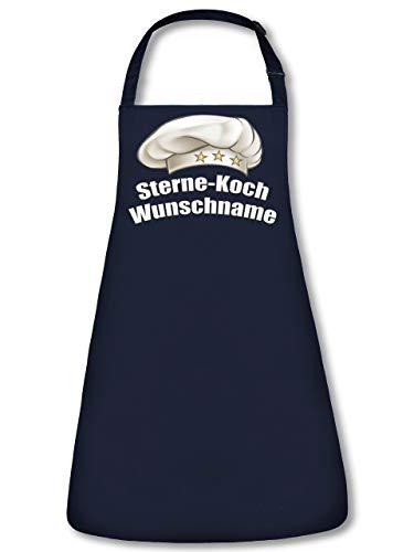 Sternekoch Wunschname Schürze personalisierte Kochschürze mit Name Backschürze Küchenschürze Latzschürze Grillschürze Spruch lustig witzige Geschenke Papa Herren Männer Navy