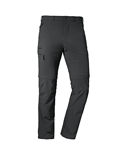 Schöffel Herren Pants Koper1 flexible Herren Hose mit Zip Off Funktion schnell trocknende und k hlende Wanderhose aus 4 Wege St, Asphalt, 50 EU