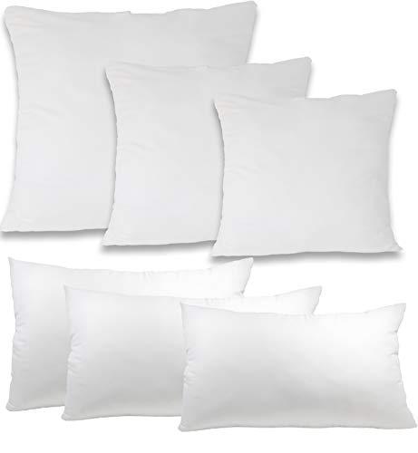 Style Heim Kopfkissen 40x60 cm Microfaserkissen Kissen Füllung Kissen-Inlett Schlafkissen Sofakissen weich atmungsaktiv waschbar Oeko-Tex Zertifiziert, Weiß