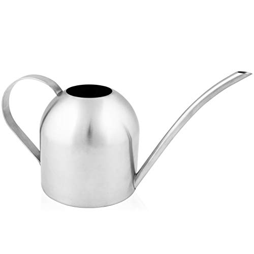 Homarden 30oz Metal Indoor Outdoor Plant Watering Can for House Plants (Stainless Steel)