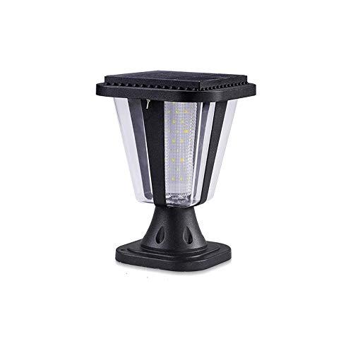 LogIme Solar-Lampen-Pfosten-Scheinwerfer im Freien Super Bright Torpfosten Outdoor Villa wasserdichte Led Hof Zaun-Licht (Color : Weiß)