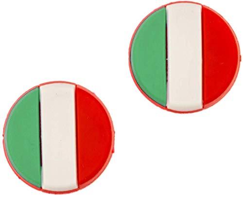 4MA Tennis Dämpfer 2er Sets Nationalflaggen Verschiedene Länder (Deutschland, Frankreich, Österreich, Italien, USA, Schweiz und Spanien) (Italien), Tennisdämpfer im Flaggen Design
