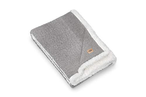 """UGG - Peyton Throw Blanket - Reversible Sherpa Blanket - 50"""" x 70"""" - Seal"""
