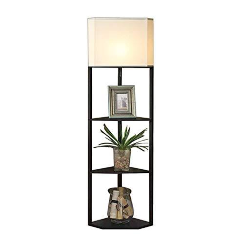 Floor Lamp Floor Lamps Indoor Iron Floor Lamp with Shelves and 3 Tier Storage Shelves, Floor Lamps for Home/Office/Bedroom/Living Room Floor Lamps Lights