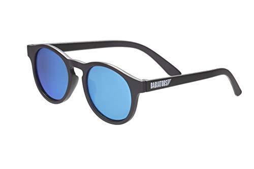 Babiators Blue Series - Gafas de sol polarizadas para bebés, niños pequeños y niños, ojo de cerradura/espejo azul, 0-2 años