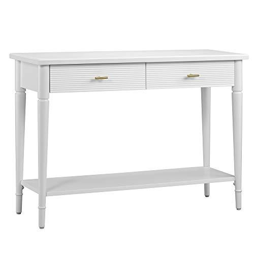 Amazon Brand – Ravenna Home Classic Console Table, 42'W, White