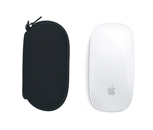 Wanty 1 Pair of Neoprene Storage Carrying Case Bag Dust Covers for Apple Magic Mouse (I and II 2nd Gen)