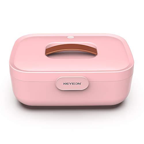 FIZZENN UV-Desinfektion Tragbare Box mit Ozon Unterwäsche Sterilisator Trocknen für Unterwäsche, Masken, Schnuller, Saliva Handtücher, Make-Up-Werkzeuge, Zahnbürsten,Rosa