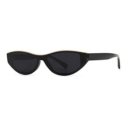 ZZOW Gafas De Sol Pequeñas De Ojo De Gato A La Moda para Mujer, Gafas De Sol con Degradado Gris Té De Diseñador De Marca Vintage para Hombre, Tendencia Uv400