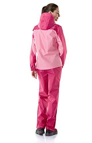 (テスラ)TESLAレディースレインウェア上下セットアウトドア登山雨具レインスーツレインコートかっぱ合羽FES20上:ピンク/下:ピンクM