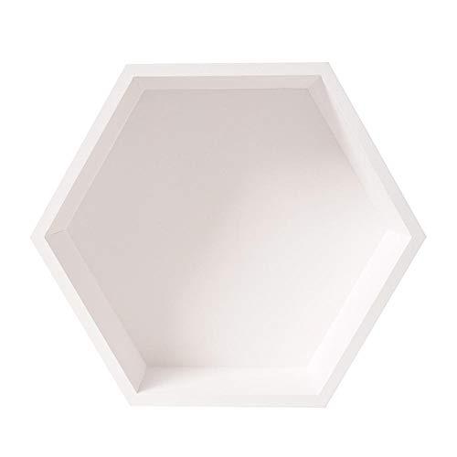 Depory Estantes De Rejilla Hexagonal De Madera Sala