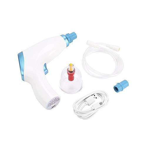 Elettrico Massaggiatore viso Vacuum 1pc Pompa elettrica Ventosa aspirazione Corpo Massage Therapy Kit Raschiare Linfodrenaggio Dolore Massaggiatore Cupping set dispositivi Massaggiatore face-24K
