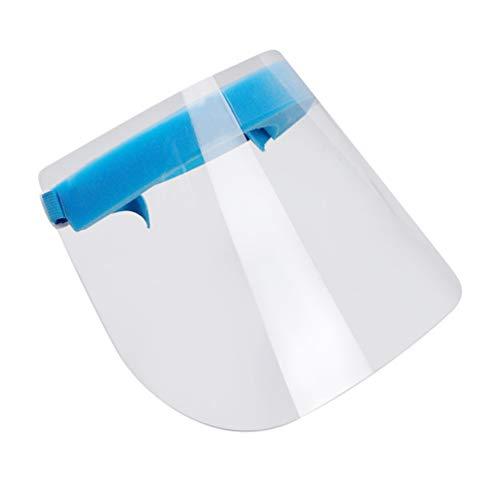 TOPBATHY 2Pcs Sicherheitsmasken Anti-Fog-Gesichtsschutz Schilde Vollgesichtsschutz f/ür Au/ßenb/üro K/üchenschutz Transparente Linse Zuf/ällige Farbe