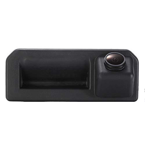 Greatek Parking Caméra HD Super Pro Objectif Vision Nocturne étanche 170 ° Grand Angle,Poignée de Coffre Caméra de recul pour Voiture pour Trunk Handle Audi A5 Q2 VW Skoda KODIAQ 2017