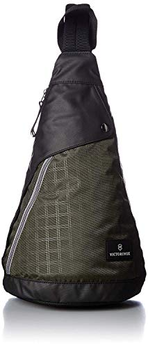 Victorinox Altmont 3.0 Dual-Compartment Mono Sling Bag, Green/Black, 16.9-inch